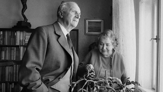 František Smolík se svou manželkou Miladou. Ve spokojeném manželství žili jednapadesát let.