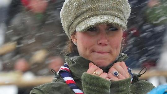 Kate neodradilo ani špatné počasí.