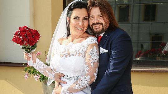 Bohouš Josef s novomanželkou Alenou