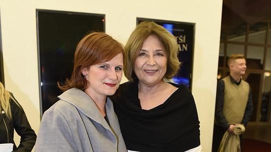 Emília Vášáryová s Kristýnou Fuitovou 18 let od Pelíšků
