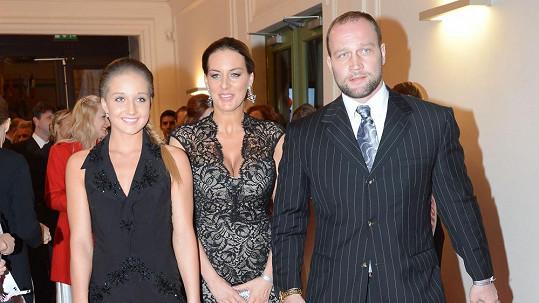 Lucie Králová s Jiřím Šlégrem a jeho dcerou Jessikou