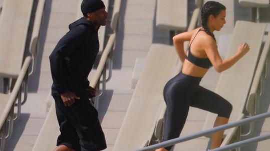 Ostrý trénink Kim Kardashian