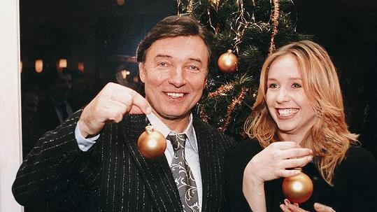Tereza Pergnerová a Karel Gott v roce 1995.