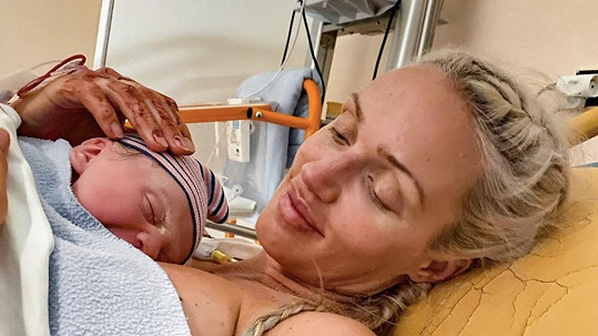 Kateřina Lébr, dříve Šonková, porodila syna