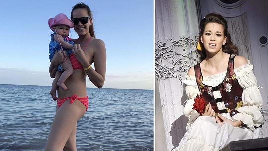 Karolina Gudasová vypadá po porodu skvěle, kostýmy určitě oblékne