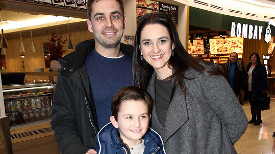Libuše Vojtková s partnerem a synem