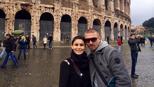 Vlaďka s Tomášem v Římě