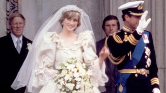 Lady Di a princ Charles ve svůj svatební den (1981)