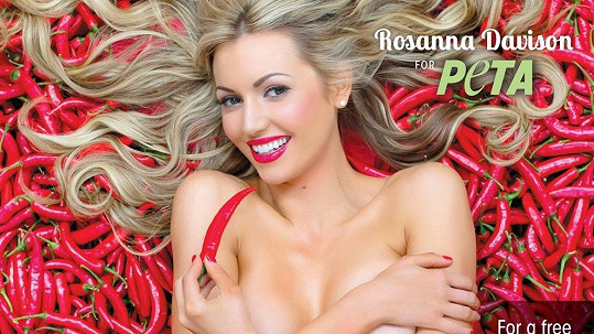 Bývalá Miss World Rosanna Davison ulehla do papriček.