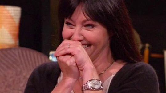 Shannen Doherty v soutěžním pořadu perlila...