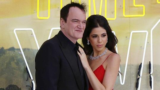 Quentin Tarantino s manželkou Daniellou Pick