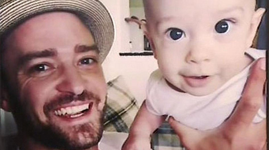 Justin Timberlake se synem Silasem