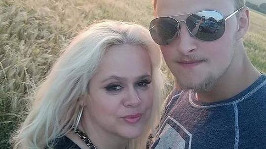 Monika Štiková s přítelem
