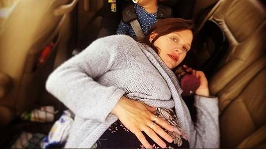 Herečka bude brzy dvojnásobnou maminkou.