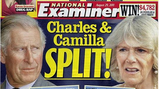 Titulní strana bulvárního plátku National Examiner.
