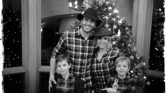 Britney Spears se syny a přítelem