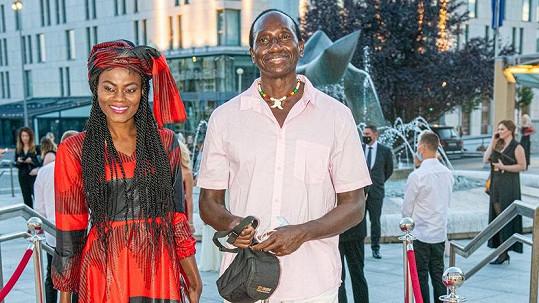 Ibrahim Maiga s manželkou