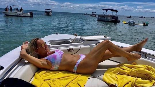 Zuzana Belohorcová na Floridě opět může k moři.