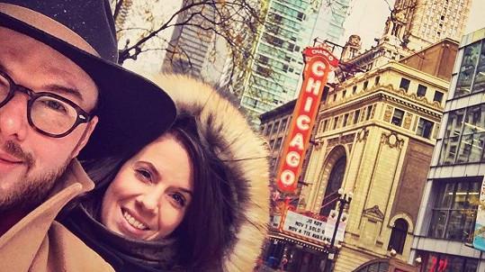 Jan Smigmator s manželkou Kateřinou v Chicagu