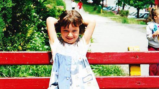 Kristína Debnárová už jako malá ráda pózovala.