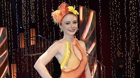 Marie Doležalová v jednom z kostýmů ze StarDance