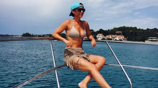 Gábina Partyšová strávila týden na lodi...