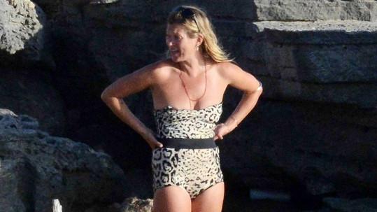 Kate Moss na dovolené.