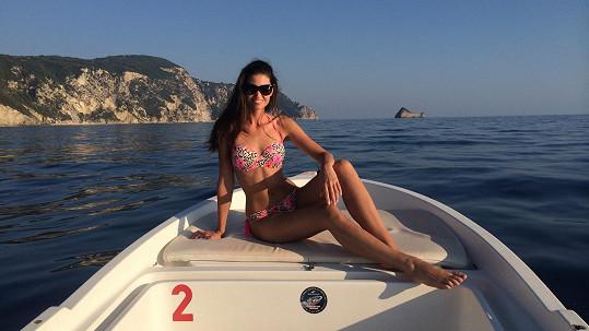 Lucie Smatanová si užívala dovolenou v Řecku.