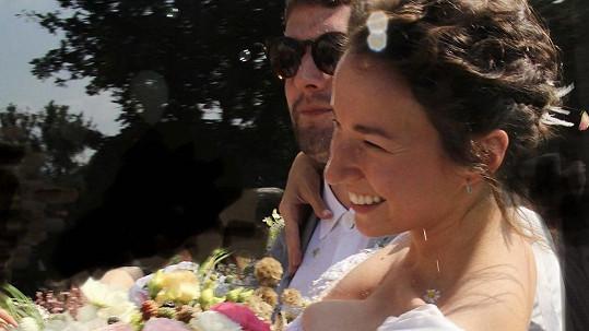Berenika Kohoutová ve svatebních šatech