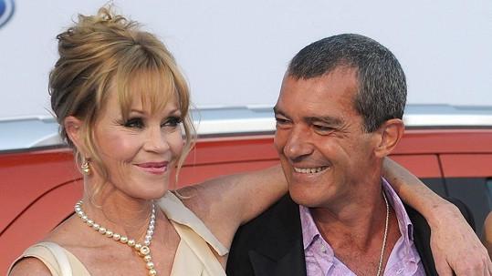 Antonio Banderas a Melanie Griffith působili jako dokonalý pár.