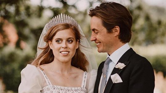 Princezna Beatrice a její manžel Edoardo Mapelli Mozzi