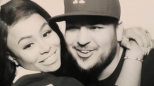 Rob Kardashian a Blac Chyna se radují z prvního společného potomka.