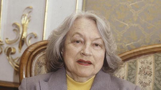 Adina Mandlová krátce před smrtí.