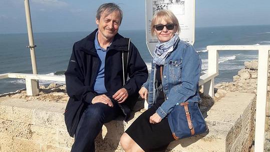 Veronika Žilková s Martinem Stropnickým v Izraeli