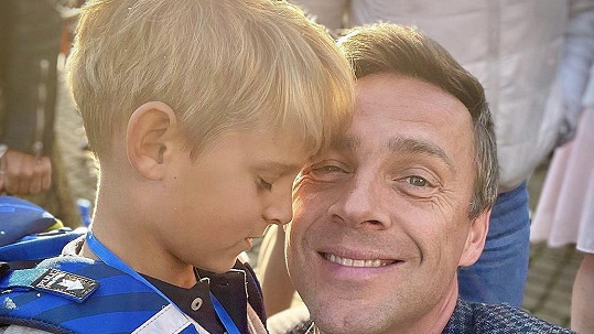 Roman Vojtek se synem