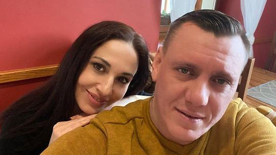 Michaela Kuklová s přítelem