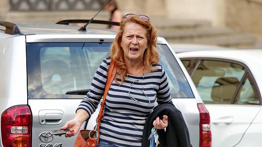 Simona Stašová byla unavená a naštvaná.