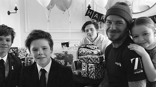 David Beckham podporuje své děti v tom, co je baví.