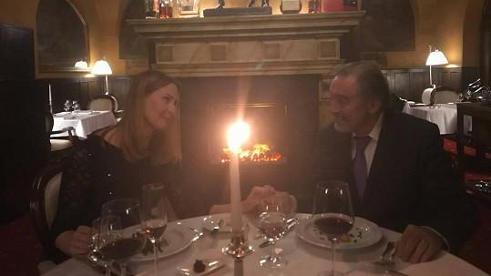 Karel Gott a Ivana Gottová slavili výročí.