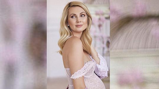 Sandra Pospíšilová v 9. měsíci přibrala 17 kilo.