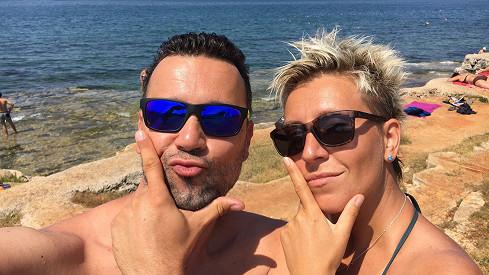 Michal Kavalčík s přítelkyní