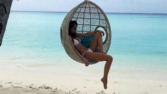 Monika Koblížková a její relax na Maledivách