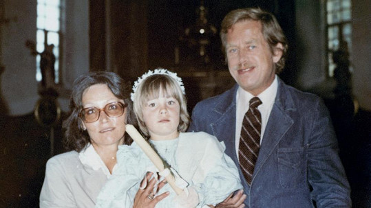 Marta Kubišová s dcerou Kateřinou a Václavem Havlem