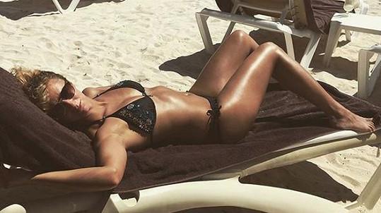 Lucie Hunčárová se sluní v Mexiku.
