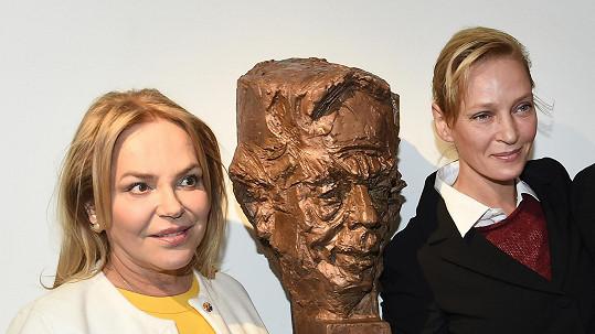 Dagmar Havlová odkryla bustu Václava Havla.
