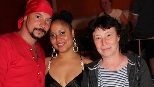 Bohuš Matuš s Madalenou Joao a maminkou