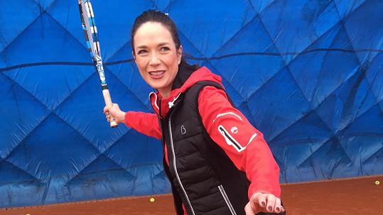 Tereza Kostková v zápalu hry