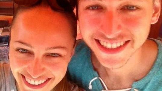 Renata Langmannová s bratrem Romanem