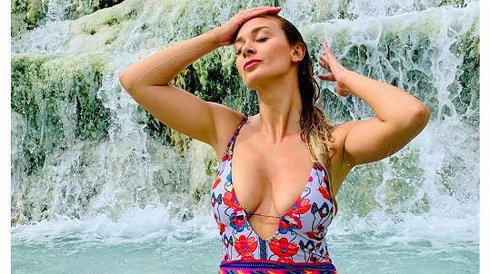 Bára Mottlová navštívila toskánské termální lázně.