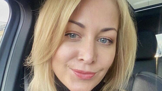 Agáta Hanychová jako blondýnka